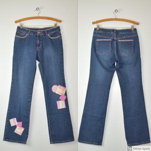 Lilly Pulitzer Mid Rise Embellished Jeans Size 8